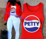Pepsi Inspired Petty Screen Print Tee