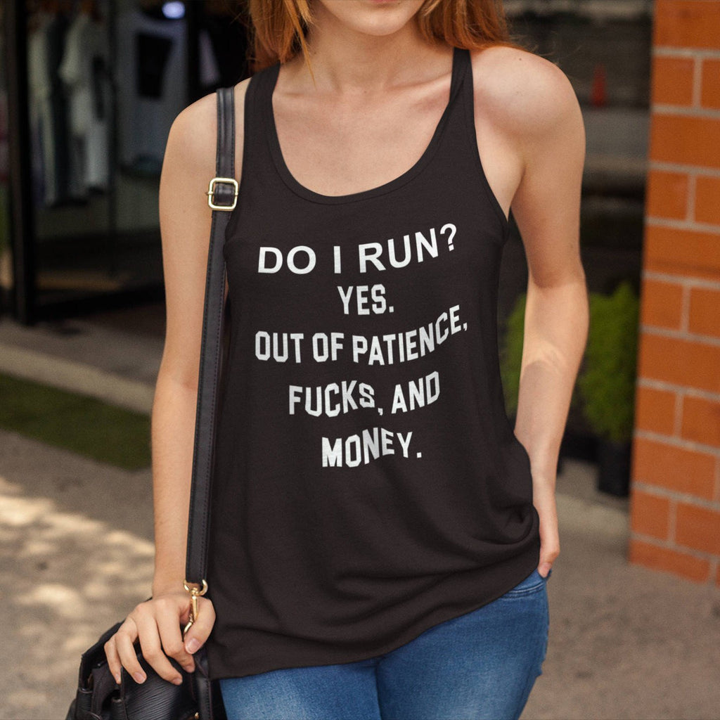 Do I Run Graphic Print Yoga Gym T-Shirt