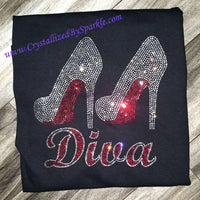 Red Bottom Diva  Crystallized Bling Bling Rhinestone Tank