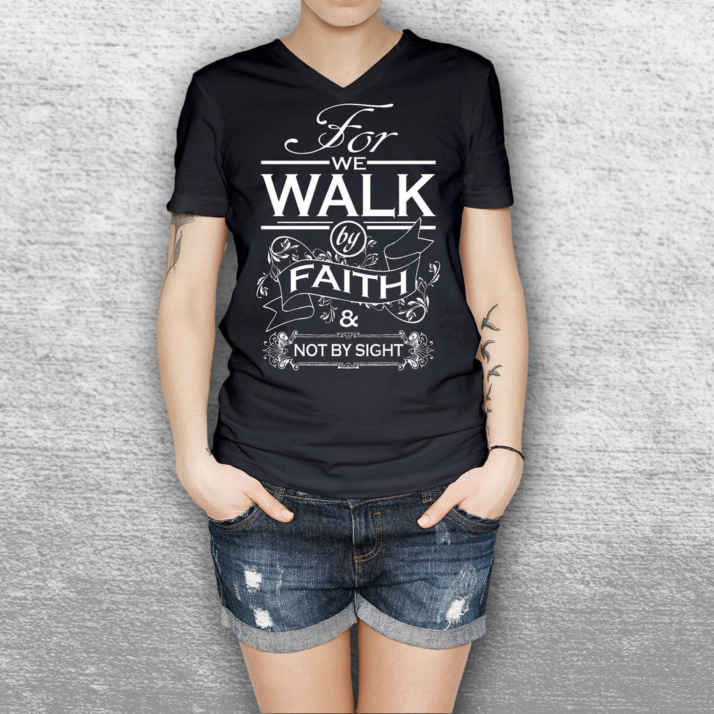 Walk by Faith Not Graphic Tee