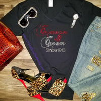 Delta Sigma Theta  Crimson and Cream Rhinestone Tee