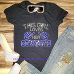 Cowboys Inspired Crystallized Bling Bling Rhinestone  Tee