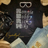 Ronnie Bobby Ricky Mike RBRM Tour Bling Bling Rhinestone T-Shirt