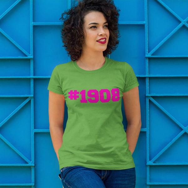 Alpha Kappa Alpha Inspired Established 1908 Vinyl Graphic Tee PLEASE READ DESCRIPTION