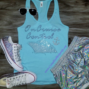 On Cruise Control Crystallized Bling Bling Tank Top