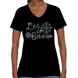 Let It Snow Rhinestone Tee