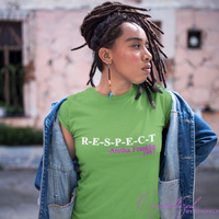 R-E-S-P-E-C-T Aretha Franklin Inspired Alpha Kappa Alpha Themed Graphic Tee