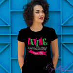 Alpha Kappa Alpha Living DivaStating Vinyl Graphic Tee PLEASE READ DESCRIPTION