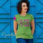 Alpha Kappa Alpha Clock Time 1908 Vinyl Graphic Tee PLEASE READ DESCRIPTION