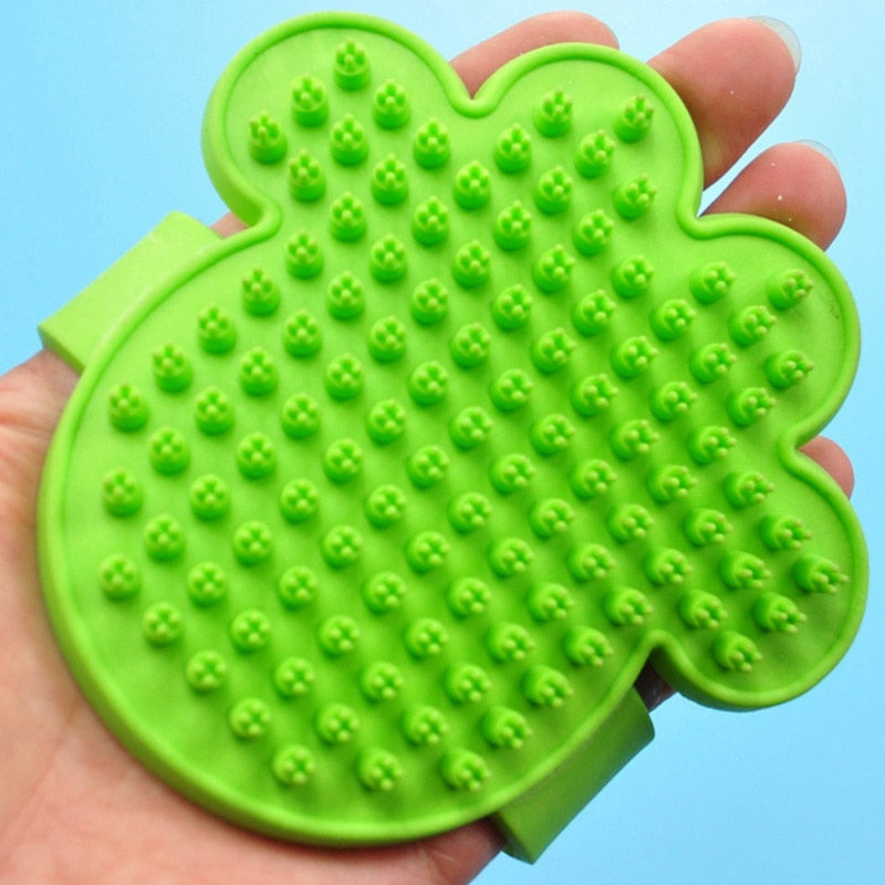 New Pet Dog Bath Brush Comb Rubber