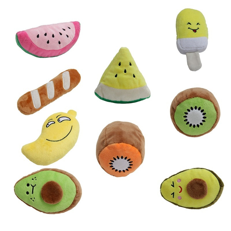 Cute Plush Fruit Puzzle Toy For Dogs