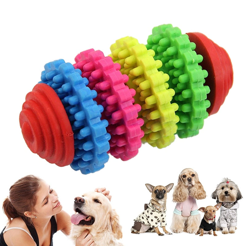 Colorful Swivel Gear Shape Dog Toy
