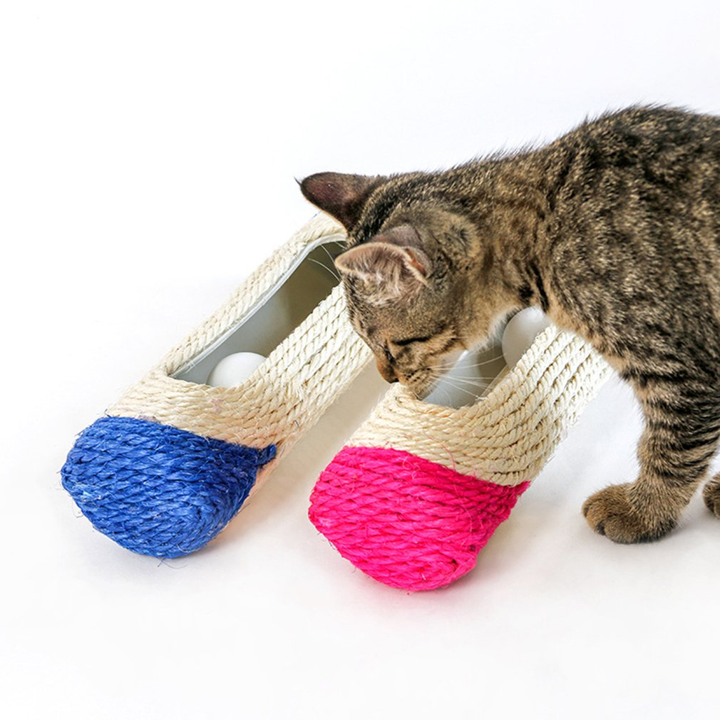 Cat Scratcher Rolling Tunnel Sisal Ball
