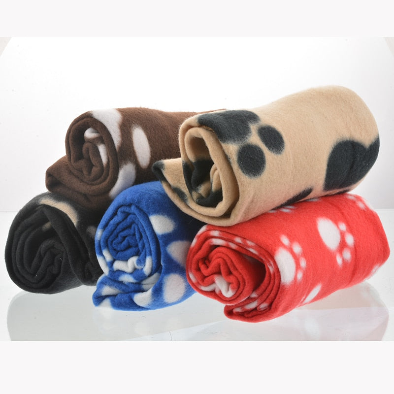 Winter Warm Dog Fleece Soft Blanket