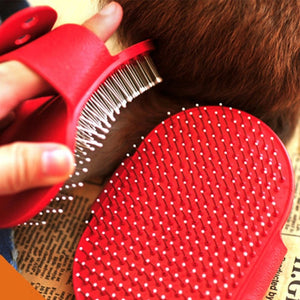 Rubber Glove Hair Fur Grooming Massaging for Dog