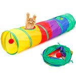 Foldable 2 Holes Cat Tunnel Toys