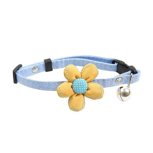 Flower Decorative Collar With Bell for Cat