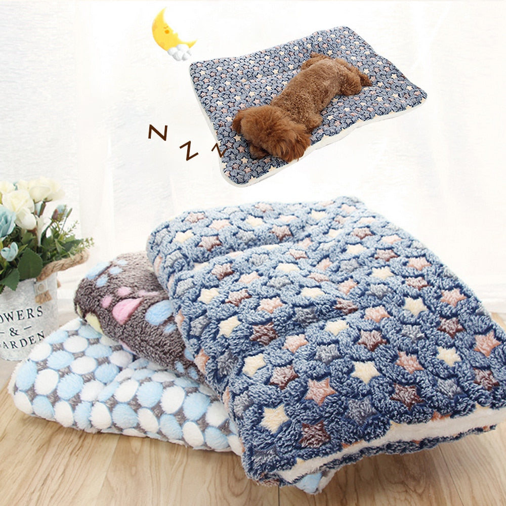 Pet Soft Fleece Pad Blanket Bed Mat