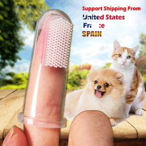 Super soft finger brush pet dog