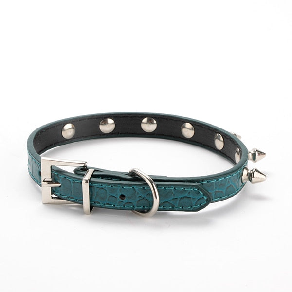 Lovely Pet Cat Dog PU Leather Collars
