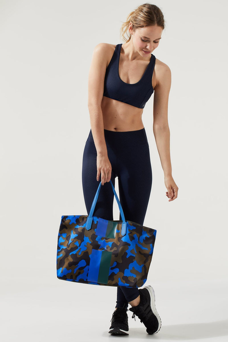 Blue Camo Tote with Stripes & Star