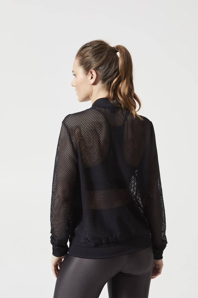Base Open Mesh Bomber Jacket