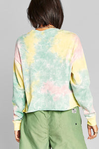 Tie Dye Long Sleeve Crop