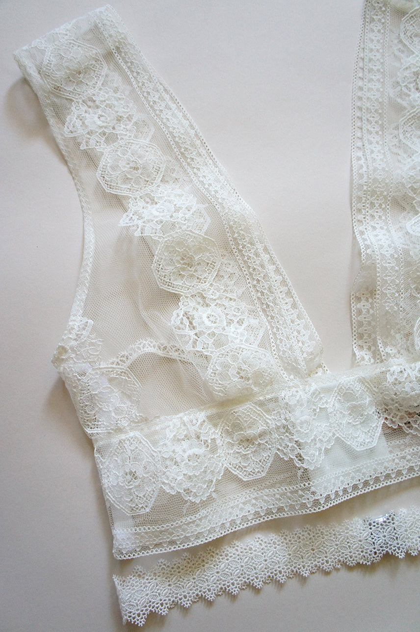 Camille Plunge Lace Bralette