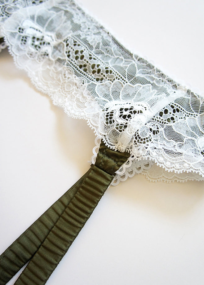 Daphne Silk and Lace Garter
