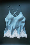 Size S/M Blue Sueded Silk Camisole