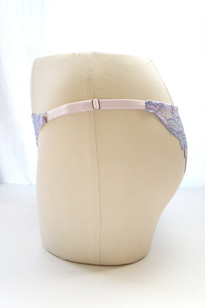 Size S-M Lavender Embroidered Lace Panty