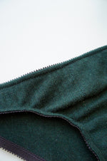 Recycled Size S Hunter Green Cashmere Brief