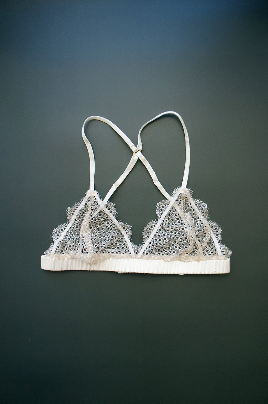 Size XS Dotted Lace Bralette Ivory