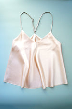 Size S Peach Stretch Silk Bias Cut Camisole