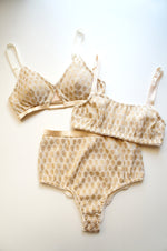 Heirloom Bralette Beige Gold Bandeau