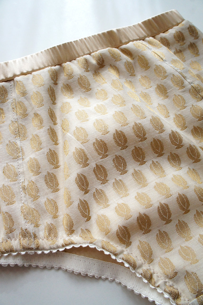 Heirloom High Waist Panty Beige Gold