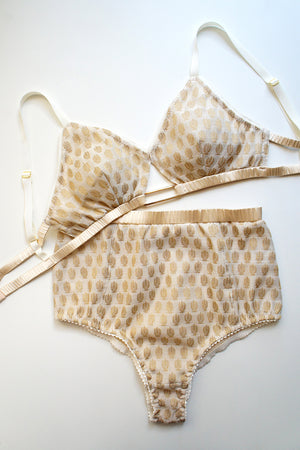 Heirloom Sylvia Bralette Beige Gold