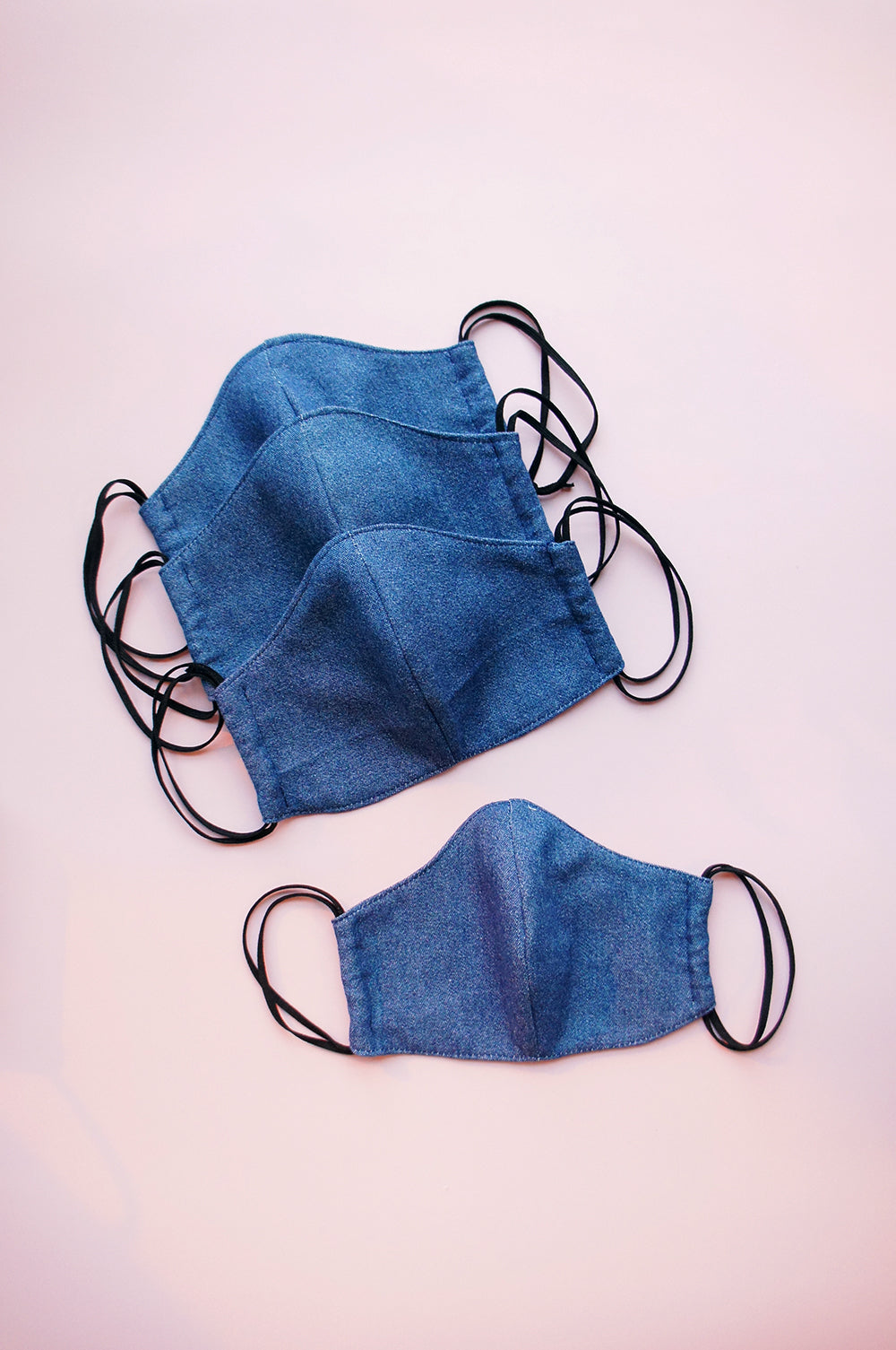 4 Pack Denim Fabric Masks