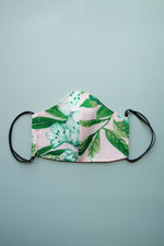 Polyester Tropical Print Fabric Face Mask