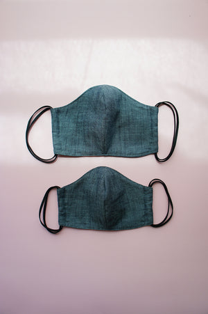 Charcoal Denim Fabric Face Mask