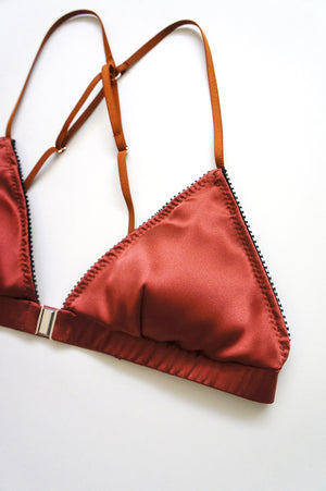 Devon Silk Bralette Copper