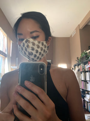 Cotton Jacquard Fabric Face Mask