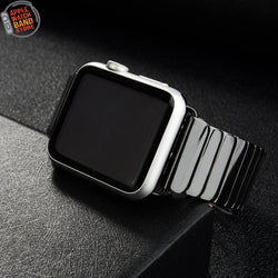 Ceramic Stainless Steel Buckle Strap For Apple Watch - Multiple Colors