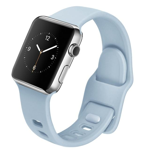 Colored Silicone Bands For All Apple Watch Models - Multiple Colors