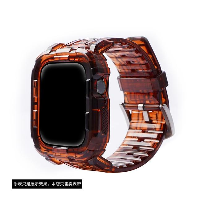 Colorful Soft Transparent Rubber Sports Strap For All Apple Watch Series