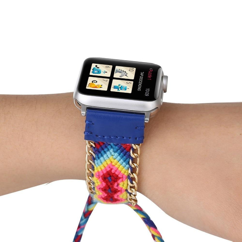 Colorful Woven Nylon Apple Watch Band For All Apple Watch Series (38mm/40mm And 42mm/44mm)