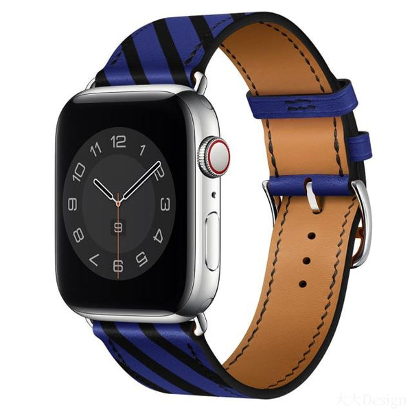 Correa Leather Apple Watch Band For All Apple Watch Series (38mm/40mm And 42mm/44mm)