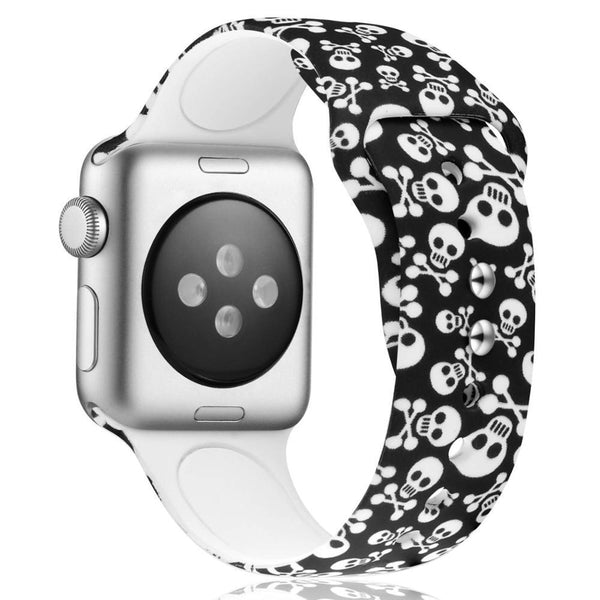 Design Silicone Strap For All Apple Watch Series - Multiple Designs