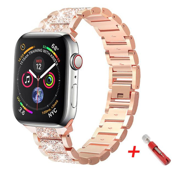 Diamond Apple Watch Band For All Apple Watch Series (38mm / 40mm And 42mm / 44mm)