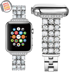 Diamond Luxury Metal Strap For All Apple Watch Models